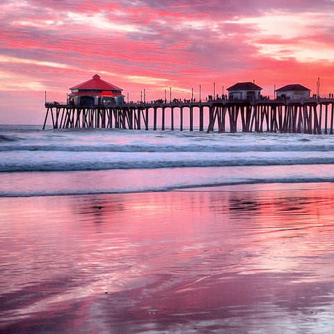 Huntington Beach Pier by Al Gerk, Limited Edition Print