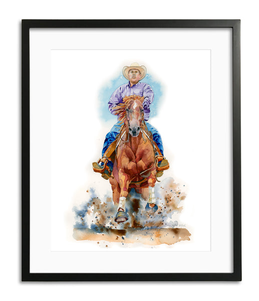 Dallas & Trucker by Kathy Harder, Limited Edition Print