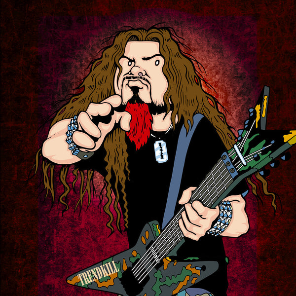 Dimebag Darrell by Anthony Parisi, Limited Edition Print