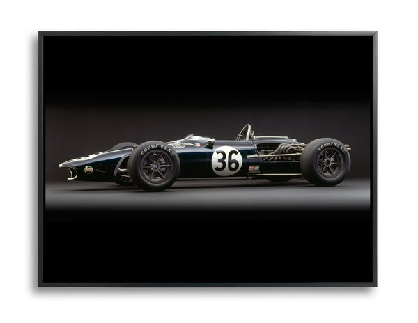 Eagle-Weslake V12, 1967, Side View by Rick Graves