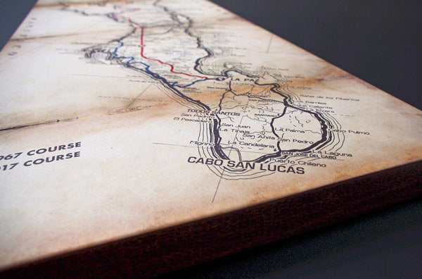 Baja 1000 50th Anniversary Commemorative Map - Gallery Wrapped Canvas