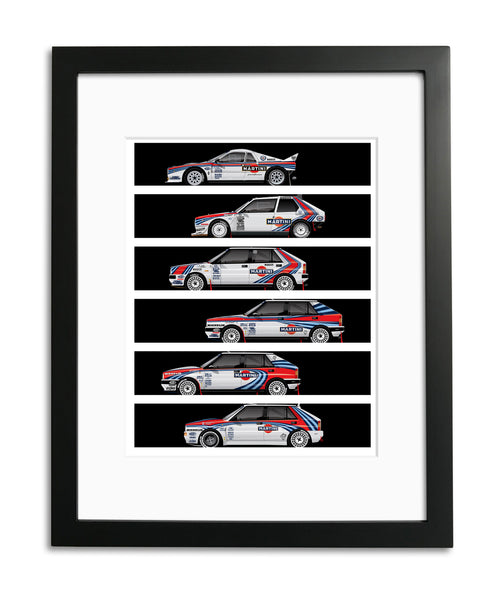Lancia Martini Rally Cars, by Ricardo Santos, Limited Edition Print