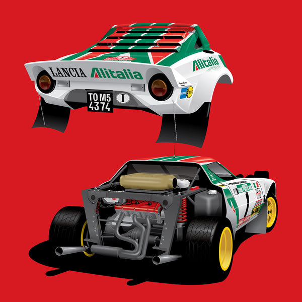 Lancia Stratos, by Ricardo Santos, Limited Edition Print