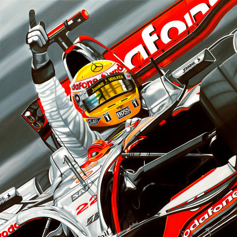 Lewis Hamilton, Living the Dream, Limited Edition Canvas Print