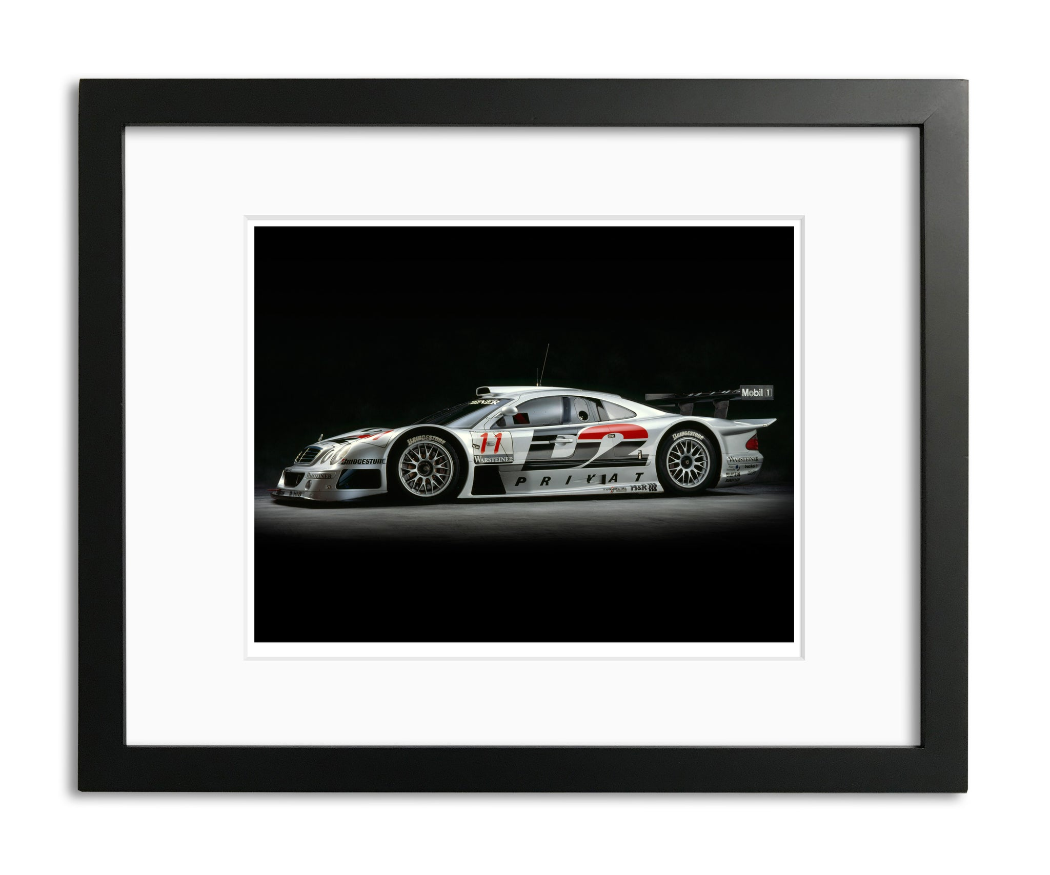 Mercedes CLK GTR, 1998, Side View by Rick Graves