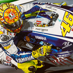 Valentino Rossi, Nine Times a Champion, Limited Edition Canvas Print