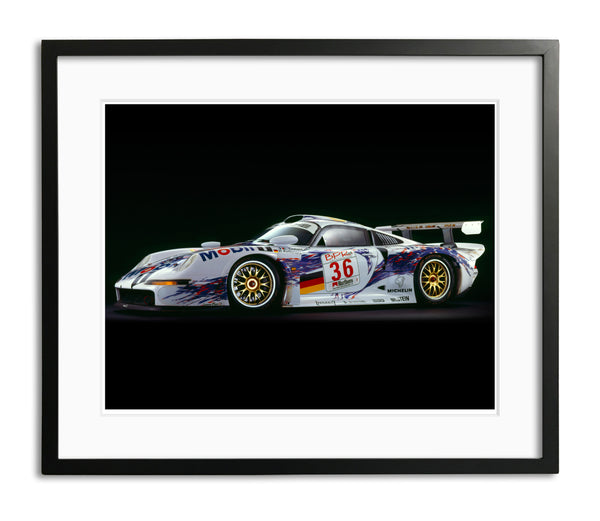 Porsche 911 GT1, 1997, Side View by Rick Graves