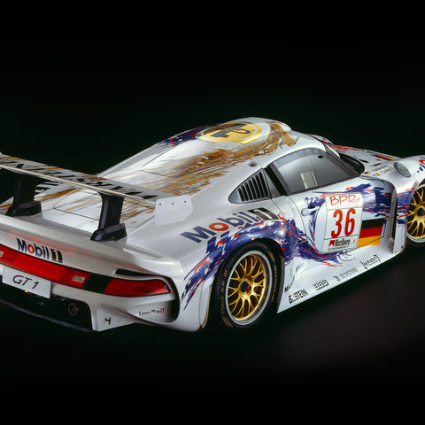 Porsche 911 GT1, 1997, Rear View by Rick Graves