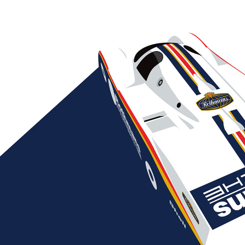 Porsche 962 by Ricardo Santos, Limited Edition Print