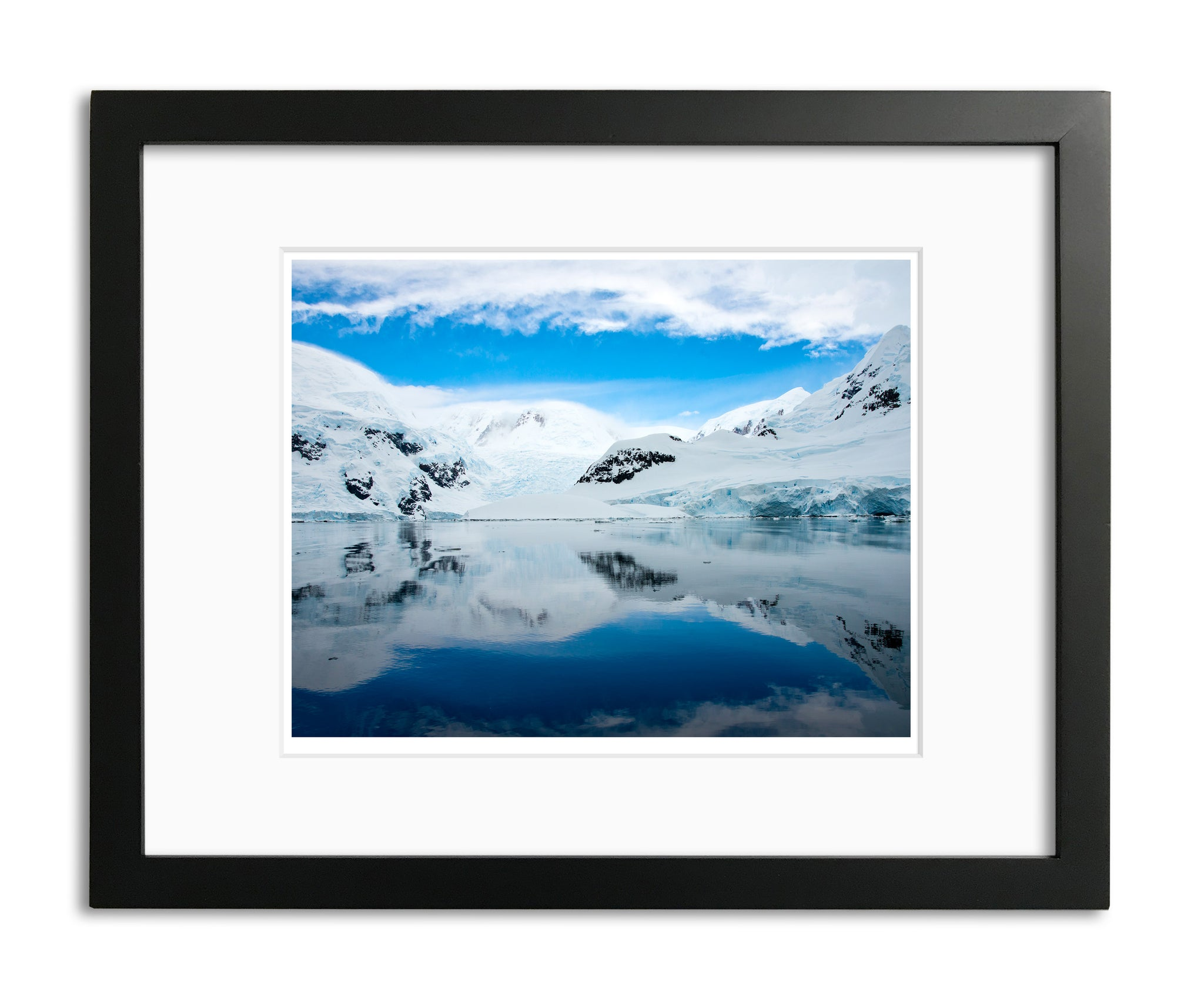 Reflections, Antarctica shoreline, by Robert Ross