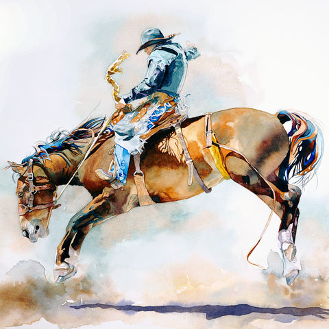 Romance of Rodeo by Kathy Harder, Limited Edition Print