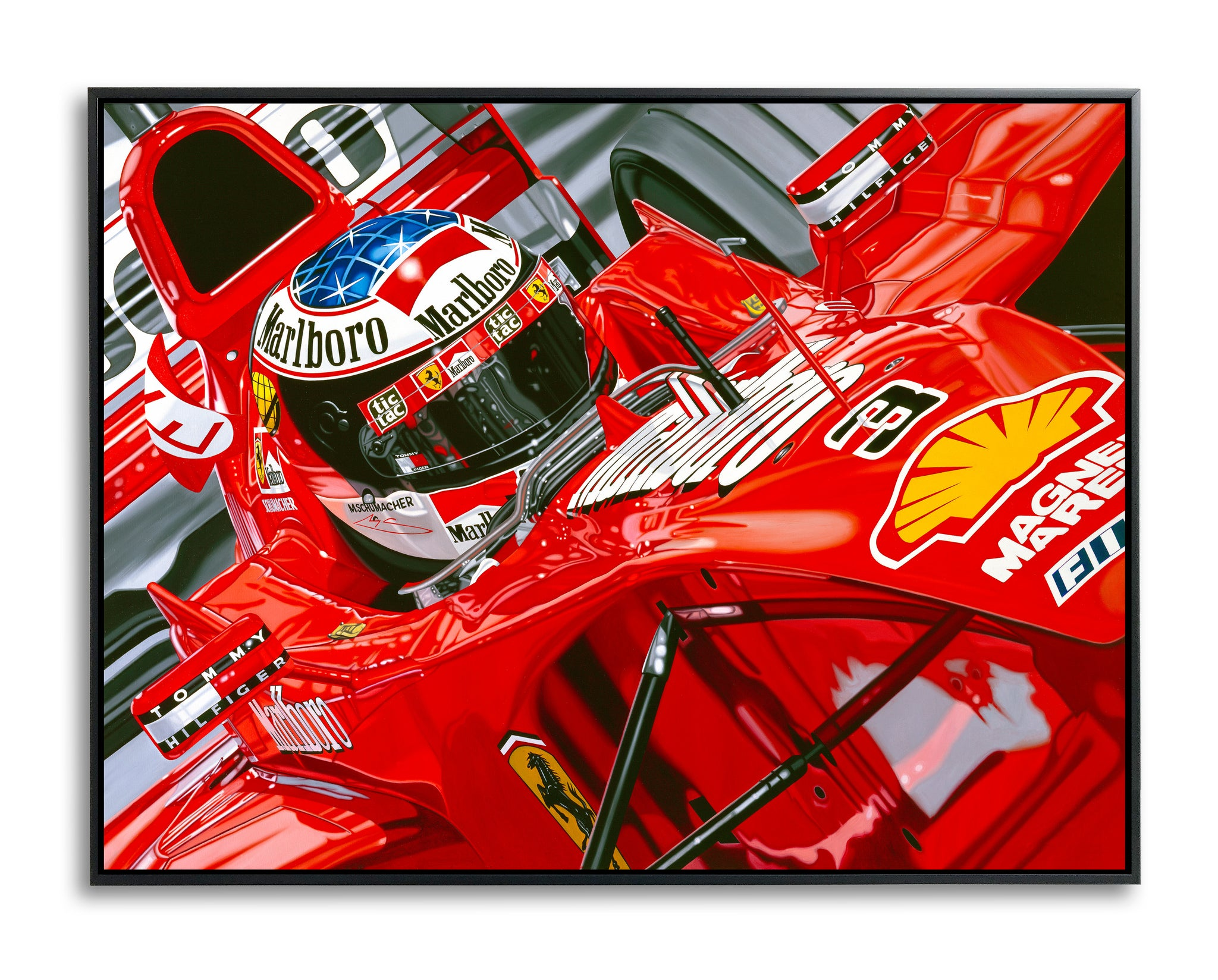 Michael Schumacher, Seeing Red, Limited Edition Canvas Print
