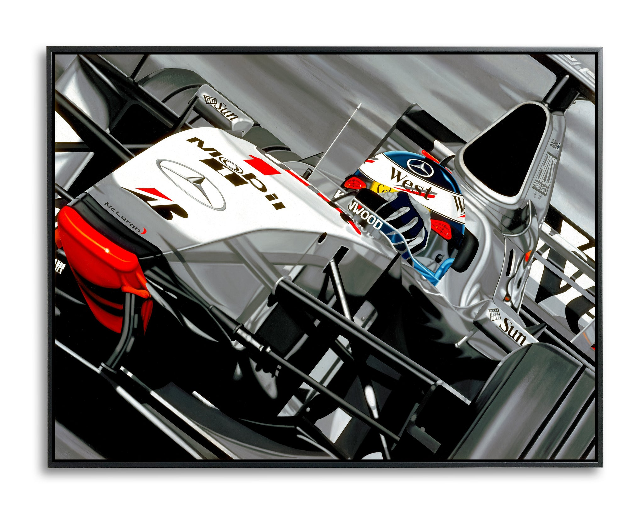Mika Hakinnen, Silver Star, Limited Edition Canvas Print