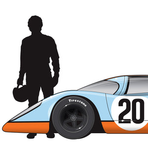 Steve McQueen Porsche 917, Le Mans movie 1971, Limited Edition Print