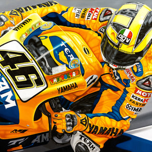 Valentino Rossi, The Peoples Champion, Limited Edition Canvas Print