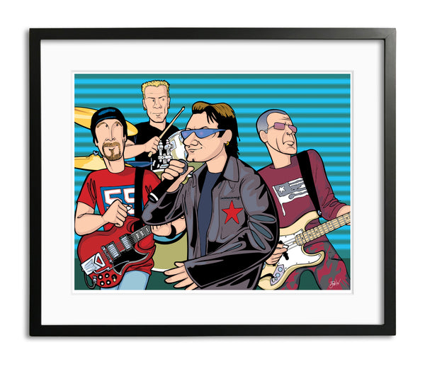 U2 by Anthony Parisi, Limited Edition Print