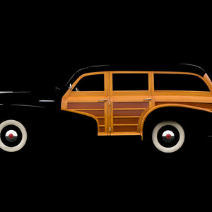 1947 Pontiac Streamliner Woody Wagon by Breck Rothage, Limited Edition Print
