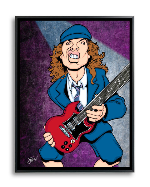 Angus Young by Anthony Parisi, Limited Edition Print