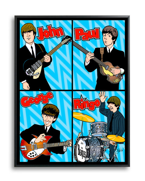 Beatles 1964 by Anthony Parisi, Limited Edition Print