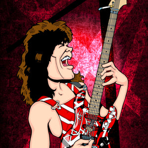 Eddie Van Halen by Anthony Parisi, Limited Edition Print