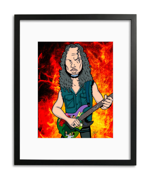 Kirk Hammett by Anthony Parisi, Limited Edition Print