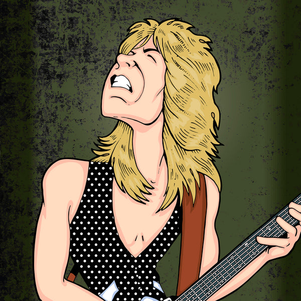 Randy Rhoads by Anthony Parisi, Limited Edition Print