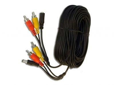 10 Metre 3 Way Cable with Power, Audio, Video RCA Connectors
