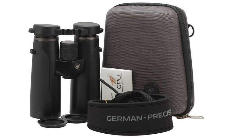 GPO Passion HD 8X42 Black Binoculars + Harness