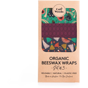 Reusable Organics Beeswax Wraps by Caliwoods