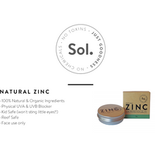 Load image into Gallery viewer, Natural Zinc Sunscreen SPF30 by Sol Zinc