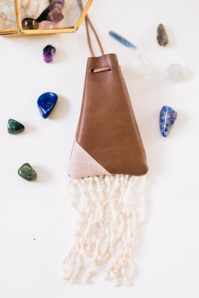 rocksacks. {wearable crystal pouch}