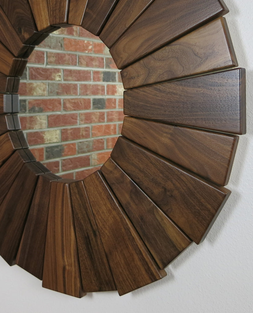 Walnut Sunburst Mirror