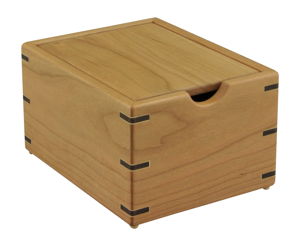 Cherry wood recipe box tyler morris woodworking 3x5 cherry recipe box with cherry lid thecheapjerseys Image collections