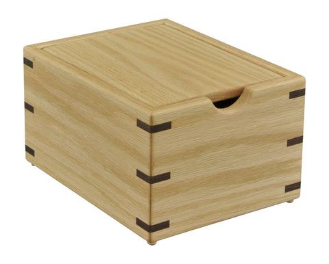 Oak Wood Recipe Box