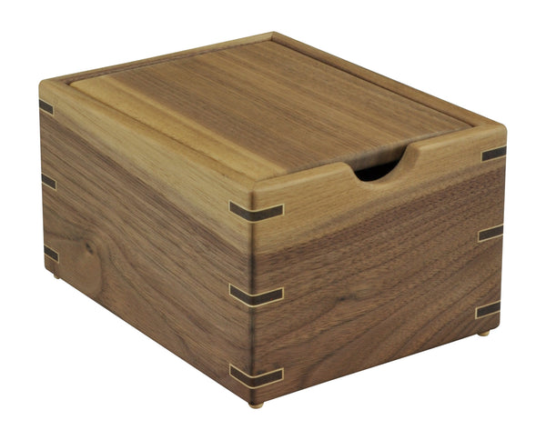 3x5 Walnut Recipe Box