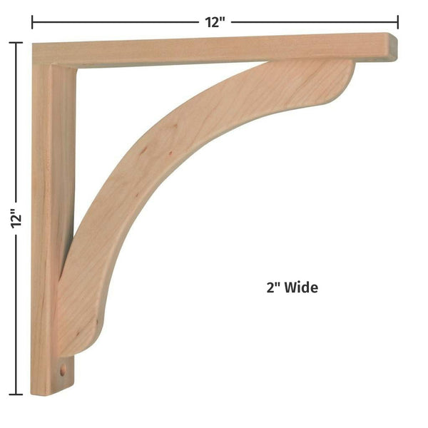 Cherry Concave 12 Corbel For Pre Installed Countertops