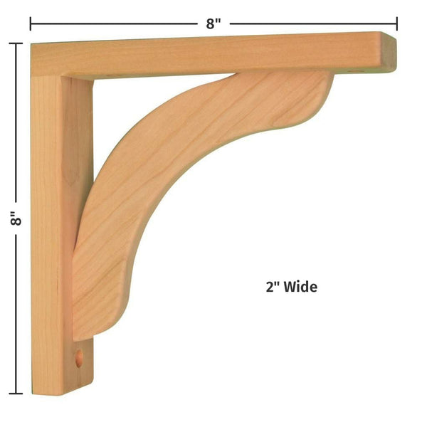 Cherry Concave 8 Corbel For Pre Installed Countertops
