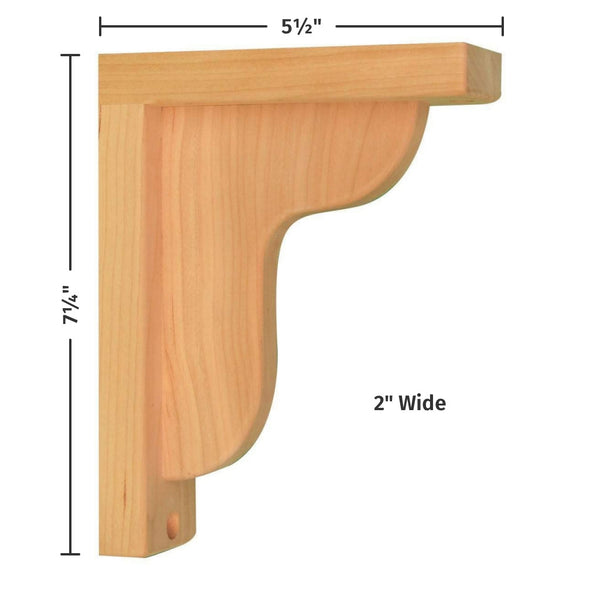 Cherry Ogee 6 Corbel For Pre Installed Countertops