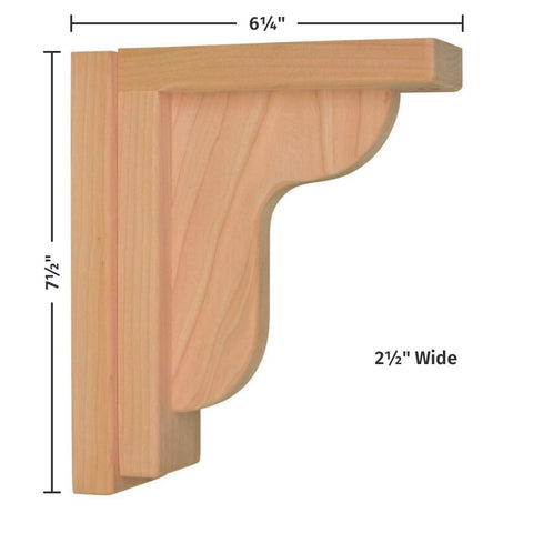 Cherry Ogee 6 Corbel by Tyler Morris Woodworking