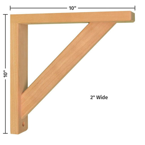 Cherry Straight 10 Corbel for Pre-Installed Countertops by Tyler Morris Woodworking