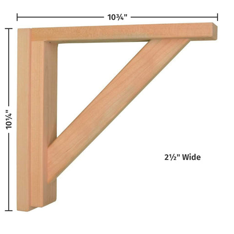 Cherry Straight 10 Corbel by Tyler Morris Woodworking