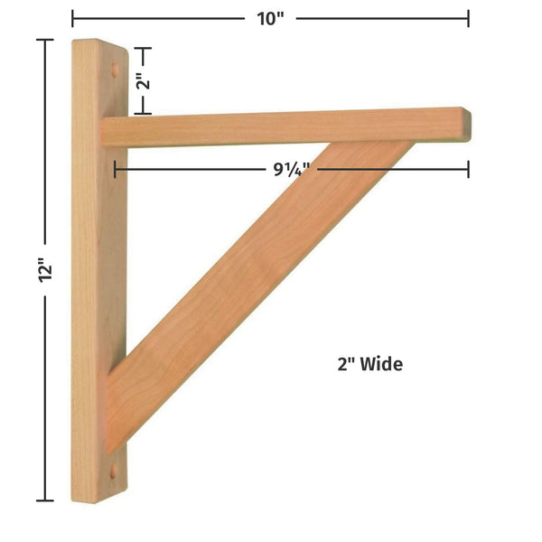 Cherry Straight 10 Shelf Bracket
