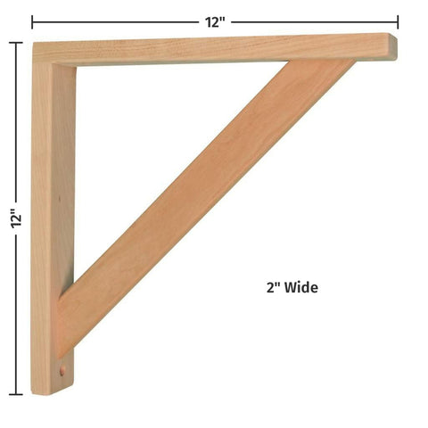 Cherry Straight 12 Corbel for Pre-Installed Countertops by Tyler Morris Woodworking