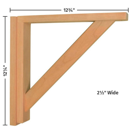 Cherry Straight 12 Corbel by Tyler Morris Woodworking
