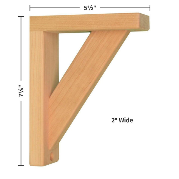 Cherry Straight 6 Corbel For Pre Installed Countertops