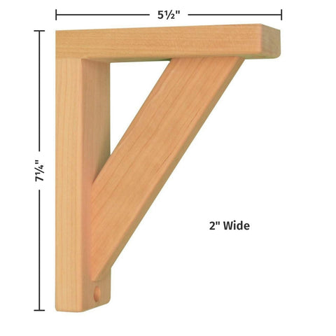 Cherry Straight 6 Corbel for Pre-Installed Countertops by Tyler Morris Woodworking
