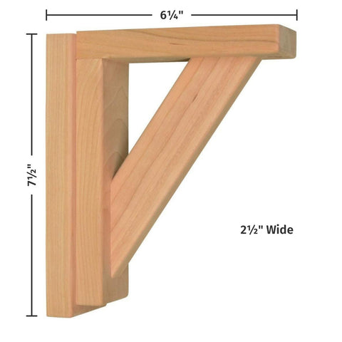 Cherry Straight 6 Corbel by Tyler Morris Woodworking