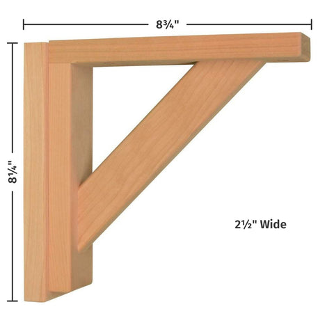 Cherry Straight 8 Corbel by Tyler Morris Woodworking