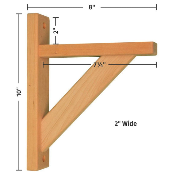 Cherry Straight 8 Shelf Bracket