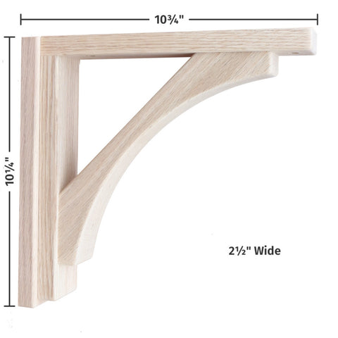 Oak Craftsman 10 Corbel by Tyler Morris Woodworking